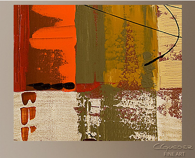 City Scape Modern Abstract Art Painting -Wall Art Close Up