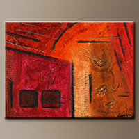 Mini Abstract Art Painting - City Walk - Large Abstract