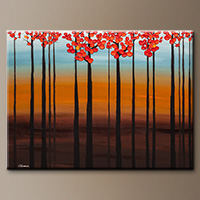 Original Tree Painting - Clear Skies - Canvas Painting