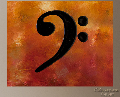Clefs Modern Abstract Art Painting -Wall Art Close Up