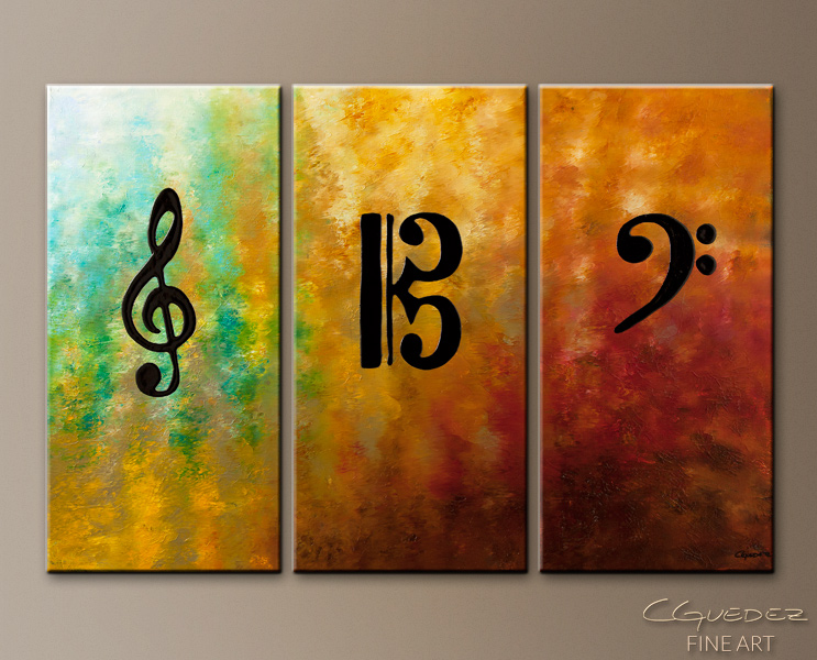 Clefs - Abstract Art Painting Image by Carmen Guedez