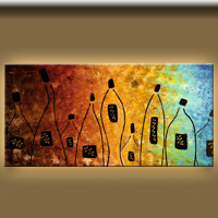 Cocktail Bar-Music Art Gallery-Abstract Art Paintings Image.