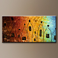Large Wine Abstract Art Paintings - Cocktail Bar - Canvas Painting