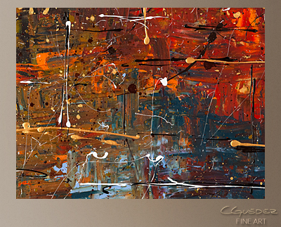 Color Splash Modern Abstract Art Painting -Wall Art Close Up