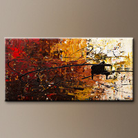 Con Fuoco-Flowers Art Gallery-Abstract Art Paintings Image