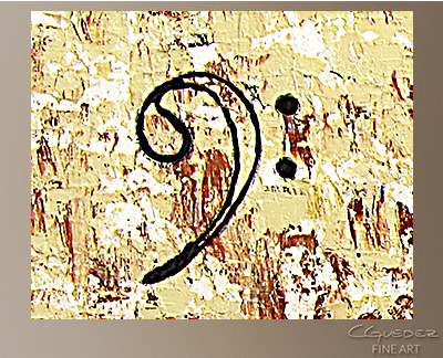 Concertino Modern Abstract Art Painting -Wall Art Close Up