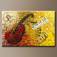 Impressionist Music Art Painting Gallery - Concertino - Large Abstract