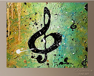 Cosmic Jam Modern Abstract Art Painting -Wall Art Close Up