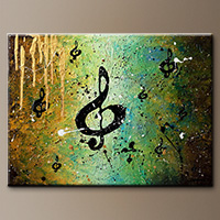Abstract Art Painting - Cosmic Jam - Canvas Painting