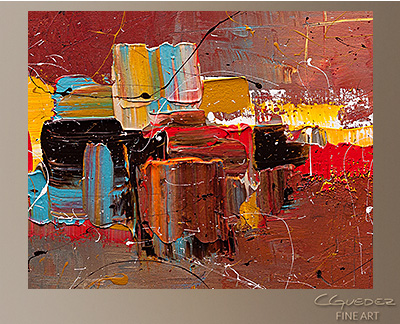 Cosmopolitan Modern Abstract Art Painting -Wall Art Close Up