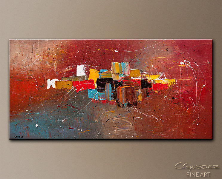 Cosmopolitan - Abstract Art Painting Image by Carmen Guedez