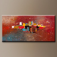 Modern Abstract Painting - Cosmopolitan - Large Art