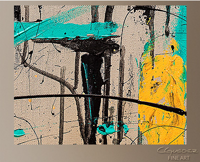 Count Me In Modern Abstract Art Painting -Wall Art Close Up