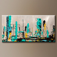 Abstract Art Paintings - Count Me In - Art Canvas
