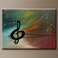 Crescendo-Flowers Art Gallery-Abstract Art Paintings Image