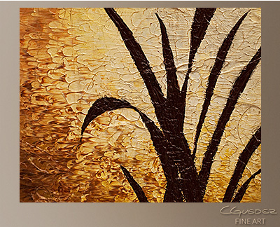 Dawn Modern Abstract Art Painting -Wall Art Close Up
