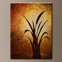Small Vertical Abstract Art Painting - Dawn - Original Art
