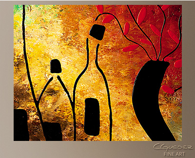 Deco Vino Modern Abstract Art Painting -Wall Art Close Up