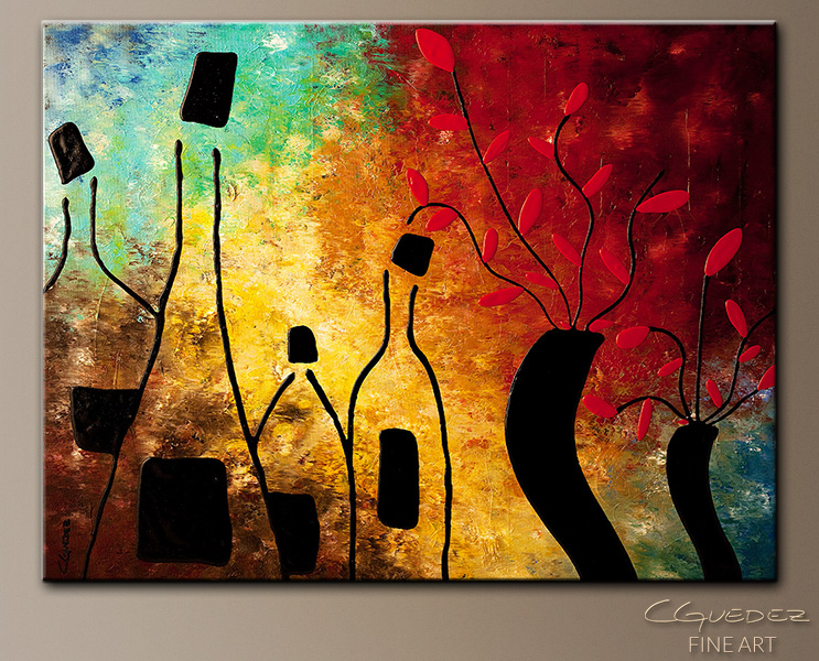 Deco Vino - Abstract Art Painting Image by Carmen Guedez