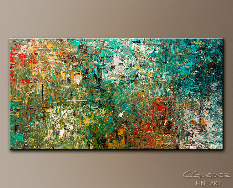 Huge Large Abstract Art Painting - Discovery - Modern Colorful ...