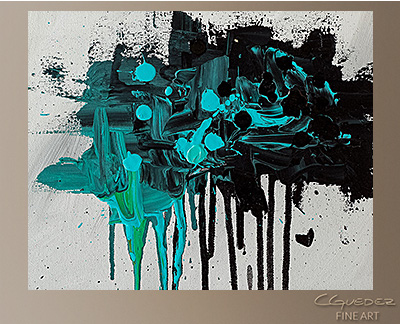 Dreamers Modern Abstract Art Painting -Wall Art Close Up