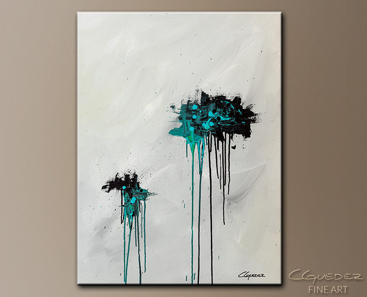 Dreamers - Abstract Art Painting Image by Carmen Guedez