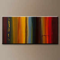 Modern Abstract Art Painting - Dripping Gold - Large Abstract