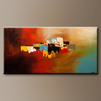 Modern Abstract Art Paintings - Du Soleil - Art Gallery
