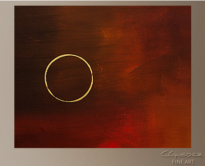 Eclipse Modern Abstract Art Painting -Wall Art Close Up