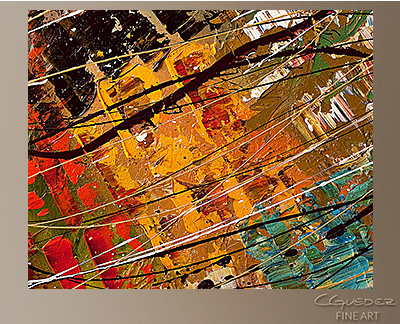 Enigma Modern Abstract Art Painting -Wall Art Close Up