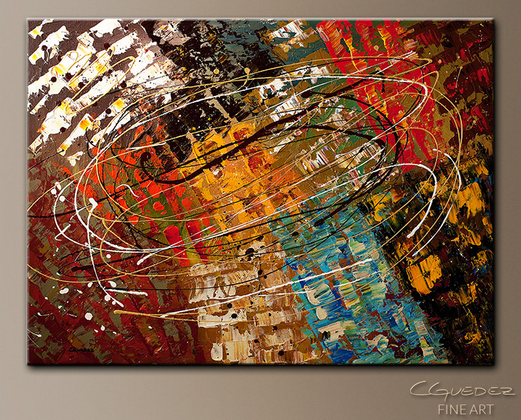 Enigma - Abstract Art Painting Image by Carmen Guedez