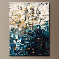 Vertical Abstract Art - Envisioning - Art Painting