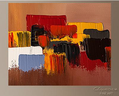 Fair Winds Modern Abstract Art Painting -Wall Art Close Up