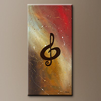 Filled with Music-Flowers Art Gallery-Abstract Art Paintings Image