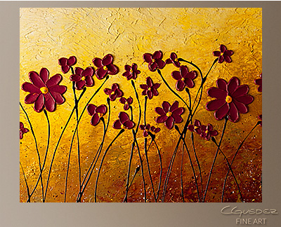 Fiori di Campo Modern Abstract Art Painting -Wall Art Close Up