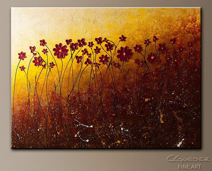 Fiori di Campo - Abstract Art Painting Image by Carmen Guedez