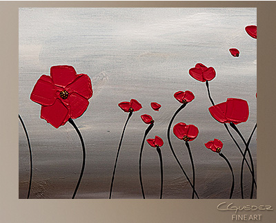 First Blossom Modern Abstract Art Painting -Wall Art Close Up