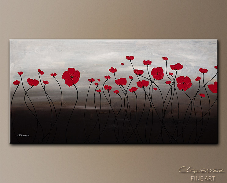 First Blossom - Abstract Art Painting Image by Carmen Guedez