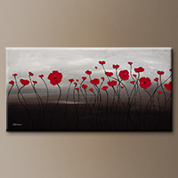 Farmhouse Flowers Art Painting - First Blossom - Large Art