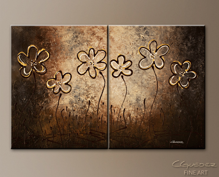 Floral Facade - Abstract Art Painting Image by Carmen Guedez