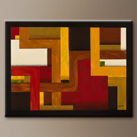 Large Modern Geometric Art Painting - Fortaleza - Art Gallery