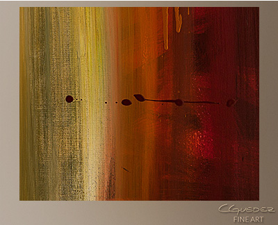 Free Flow Modern Abstract Art Painting -Wall Art Close Up