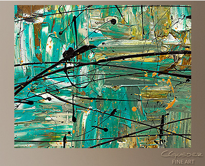 Free Up Urself Modern Abstract Art Painting -Wall Art Close Up