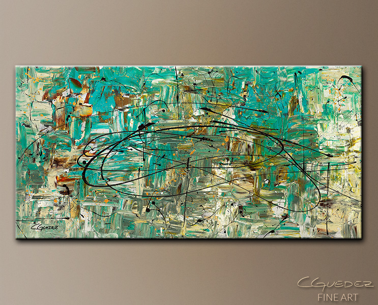 Free Up Urself - Abstract Art Painting Image by Carmen Guedez