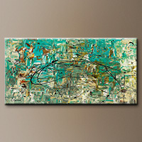 Textured Modern Abstract Art Painting - Free Up Urself - Large Art
