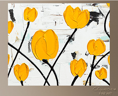 Fresh Picked Flowers Modern Abstract Art Painting -Wall Art Close Up