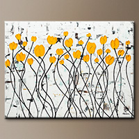 Floral Abstract Painting - Fresh Picked Flowers - Original Art