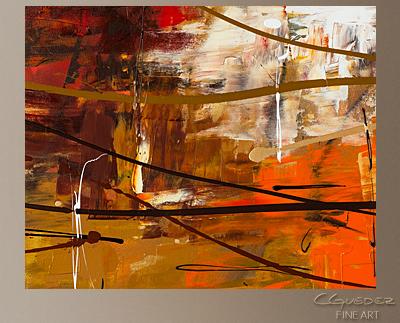 Funtastic Modern Abstract Art Painting -Wall Art Close Up