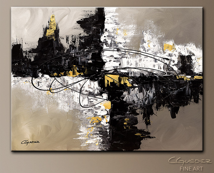 Fusion - Abstract Art Painting Image by Carmen Guedez & Original Canvas Art Painting Fusion - Abstract Art Painting - Wall ...