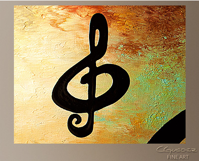 G Rhapsody Modern Abstract Art Painting -Wall Art Close Up
